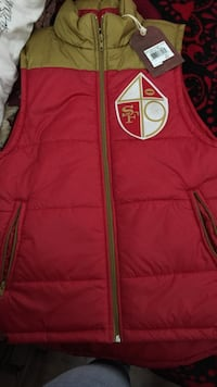 Red and white adidas zip-up vest Watsonville, 95076