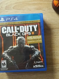 Call of Duty Black Ops 3 PS4 game case Broomfield, 80020