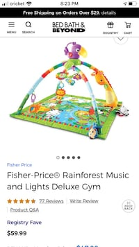 Brand new Fisher-Price Music & Lights Deluxe Baby Gym Washington, 20016