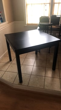Rectangular black wooden table with two extended sides Alexandria, 22307