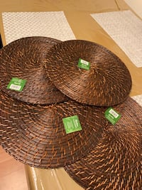 Round bamboo placemats  Centreville, 20121