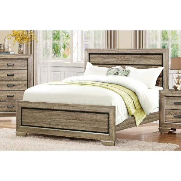 Queen Bed - Light Elm  - Brand New - Free Home Delivery SF bay area