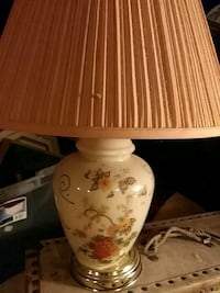 white and brown floral table lamp Wichita, 67211