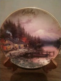 Thomas kinkade oct end of a perfect day plate Laguna Hills, 92653