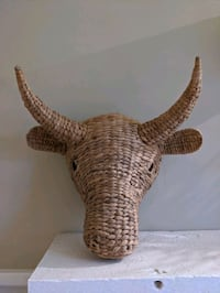 Large wicker bull head originally from Target.  Hamilton, L8P 3S3