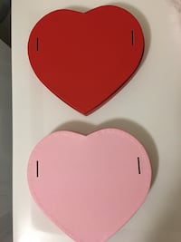Red or Pink Matte Heart Shaped Boxes - 9 1/4 x 8 1/8 x 1 1/4in. Victoria, V8N 6H9