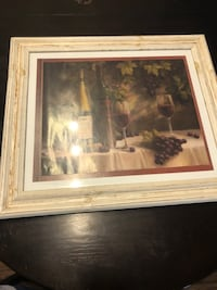 Vintage style decorative wine framed print Conroe, 77384