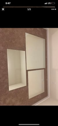 3 large mirrors