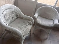 gray wicker armchair with ottoman Port St. Lucie, 34952