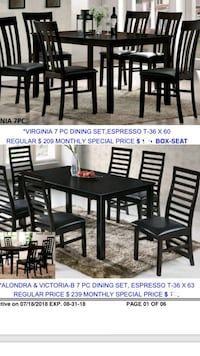 rectangular brown wooden table with four chairs dining set Santa Ana