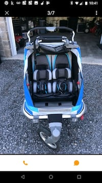 baby's blue and black car seat carrier Edmonton, T6L 3R5