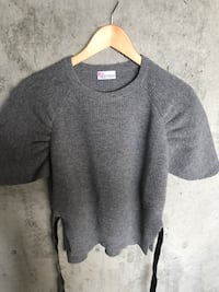 Red Valentino Belted Grey Sweater (Medium)