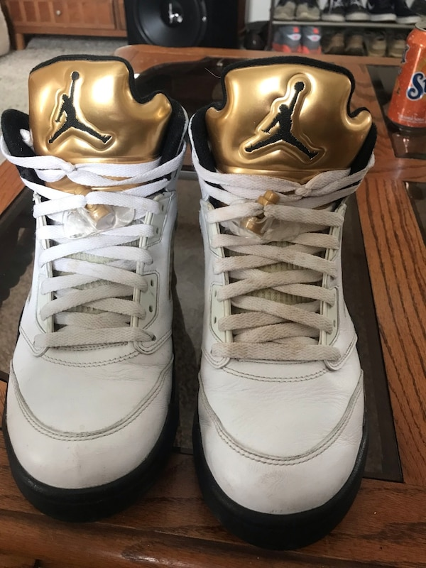 outlet store 55bae dbeb5 Air Jordan Retro 5 Olympic Gold