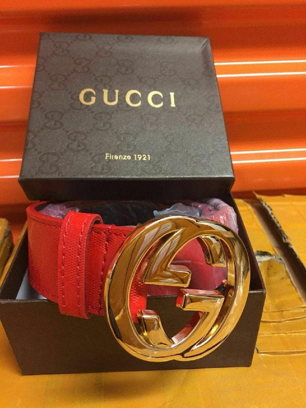4e9d73b0499 Used red Gucci leather belt with silver-colored belt bu for sale in  Belleville - letgo