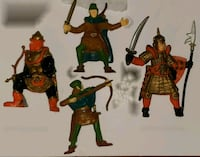 4- 1982 Advanced Dungeons & Dragons action figures.