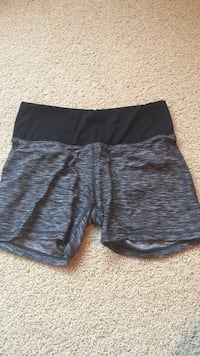 black and grey boxer shorts