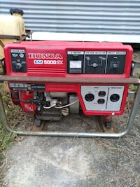 red and black Predator 4000 portable generator