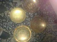 Solid brass plates vintagemade in China engraved o Miamisburg, 45342