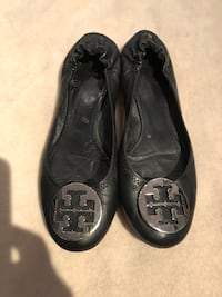 Tory Burch black ballerina shoes sz 7/7.5 US Burnaby, V5G 3X4