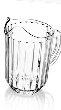 Plastic Water Pitcher, 60-ounce, clear. Melbourne Beach, 32951