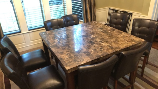 Super Rectangular Granite Top Counter Height Table With 8 Chairs Dining Set Gmtry Best Dining Table And Chair Ideas Images Gmtryco