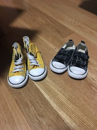 two pairs of white and black sneakers Bolton, L7E 2X2