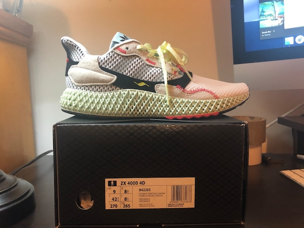 huge selection of 41617 e63d1 Used Brand New Adidas ZX 4000 4D Size 9 for sale in New York