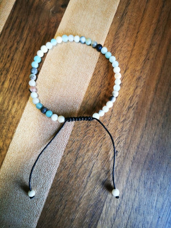 Amazonite adjustable healing stone bracelets 1