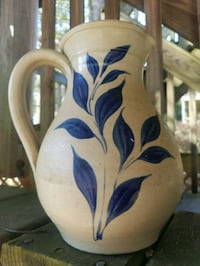 "12"" Royal Blue & Floral Hand painted Water Jug  Fairfax, 22032"