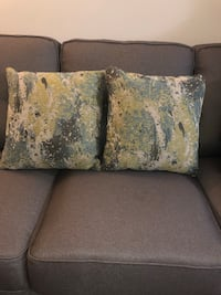 Multi colored pillows (2) blue, green, grey New York, 10028