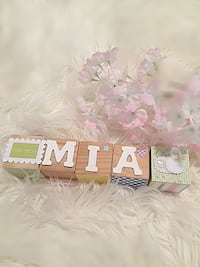Personalized wood blocks  $40 for 6 blocks $5 any additional  Burbank, 91504