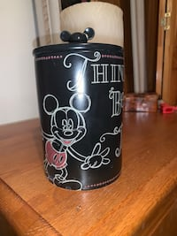 """DISNEY JAR. Mickey Mouse picture &""""Think,Believe,Dream,Dare"""""""