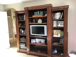 Cherry Wood Armoire Cabinet Display