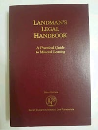 Landmans Legal Handbook Guide To Mineral Leasing 5th edition paperback Houston, 77043