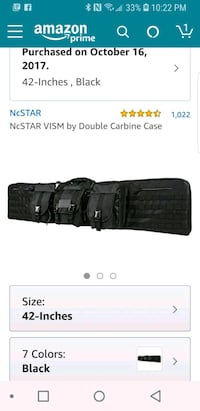 Tactical double steel airsift or paint rifle case Riverbank, 95367