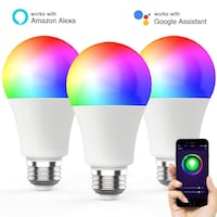 Novostella 3 Pack WiFi Smart Light LED Bulb 7W 600LM RGBW A19 for Amazon Alexa Google, No Hub Required, 60W Equivalent Los Angeles, 90065