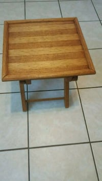 Bamboo and teak folding table foot by foot Port Coquitlam