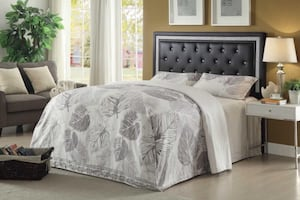 Queen new bed with mattress set.