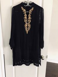 black and brown floral long sleeve dress East Gwillimbury, L0G