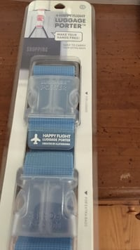 Blue luggage porter strap blister package 32 km