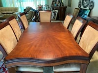 Dinning room set with 8 chairs
