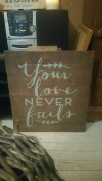 """Your love never fails"" sign decor Lubbock, 79412"