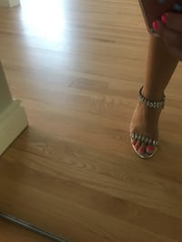 Silver high heels-size 9