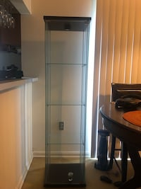IKEA storage cabinet wood & glass 64 inches height Adelphi, 20783