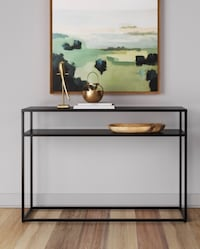 Modern/Industrial Black Steel Console Table/TV Stand Washington, 20002