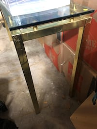 Glass table (edge broke and has been glued back on) Mississauga, L5N 2Z7
