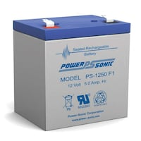 NEW Powersonic PS-1250 F1 Replacement Battery 12V 5 AH Saint Johns