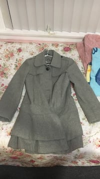 Guess -gray collared trench coat