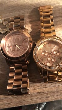 two round gold-colored chronograph watches Shreveport, 71103