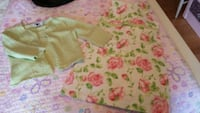 Sz 6 Girl's floral dress with sz 5/6 sweater